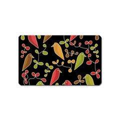 Flowers and birds  Magnet (Name Card)