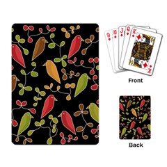 Flowers and birds  Playing Card