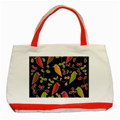 Flowers and birds  Classic Tote Bag (Red)