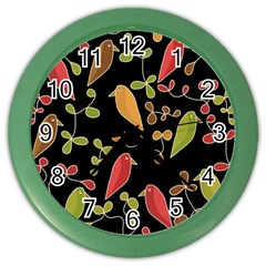 Flowers and birds  Color Wall Clocks