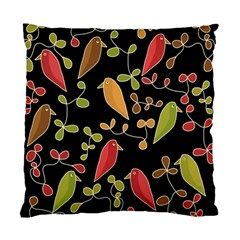 Flowers and birds  Standard Cushion Case (Two Sides)