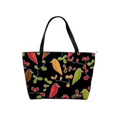 Flowers and birds  Shoulder Handbags