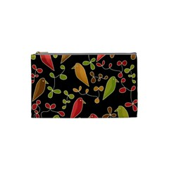 Flowers and birds  Cosmetic Bag (Small)