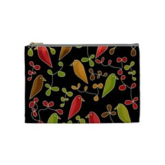 Flowers and birds  Cosmetic Bag (Medium)
