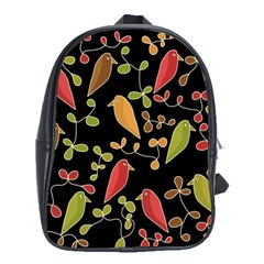 Flowers and birds  School Bags(Large)