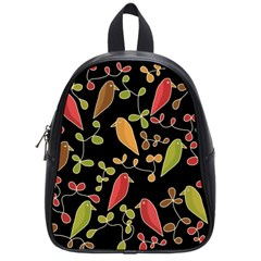 Flowers and birds  School Bags (Small)