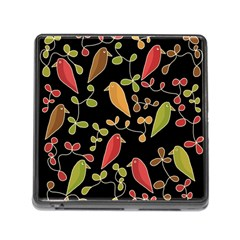 Flowers and birds  Memory Card Reader (Square)