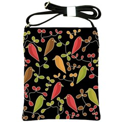Flowers and birds  Shoulder Sling Bags