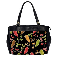 Flowers and birds  Office Handbags (2 Sides)