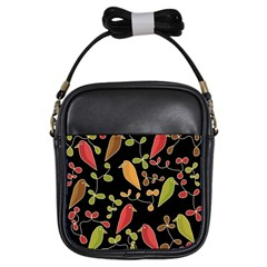 Flowers and birds  Girls Sling Bags