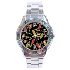 Flowers and birds  Stainless Steel Analogue Watch