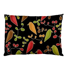Flowers and birds  Pillow Case (Two Sides)
