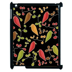 Flowers and birds  Apple iPad 2 Case (Black)