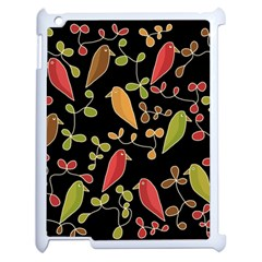 Flowers and birds  Apple iPad 2 Case (White)