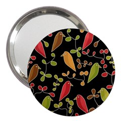 Flowers and birds  3  Handbag Mirrors