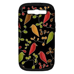 Flowers and birds  Samsung Galaxy S III Hardshell Case (PC+Silicone)
