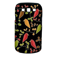 Flowers and birds  Samsung Galaxy S III Classic Hardshell Case (PC+Silicone)