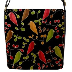 Flowers and birds  Flap Messenger Bag (S)