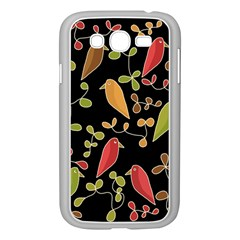 Flowers and birds  Samsung Galaxy Grand DUOS I9082 Case (White)