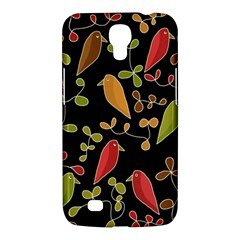 Flowers and birds  Samsung Galaxy Mega 6.3  I9200 Hardshell Case