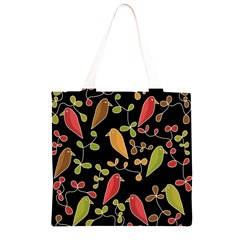 Flowers and birds  Grocery Light Tote Bag