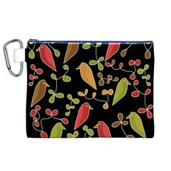 Flowers and birds  Canvas Cosmetic Bag (XL)