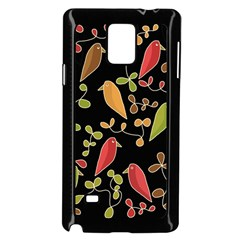 Flowers and birds  Samsung Galaxy Note 4 Case (Black)