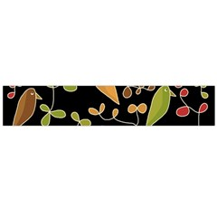 Flowers and birds  Flano Scarf (Large)
