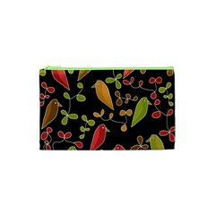 Flowers and birds  Cosmetic Bag (XS)