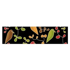 Flowers and birds  Satin Scarf (Oblong)