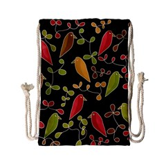 Flowers and birds  Drawstring Bag (Small)