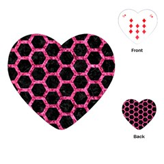 HXG2 BK-PK MARBLE Playing Cards (Heart)