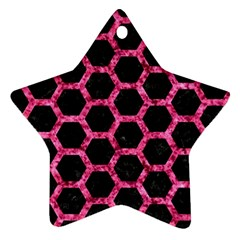 HXG2 BK-PK MARBLE Star Ornament (Two Sides)