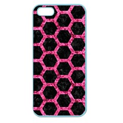HXG2 BK-PK MARBLE Apple Seamless iPhone 5 Case (Color)