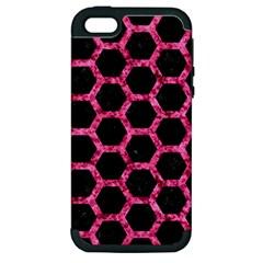 HXG2 BK-PK MARBLE Apple iPhone 5 Hardshell Case (PC+Silicone)