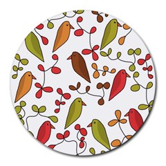 Birds and flowers 3 Round Mousepads