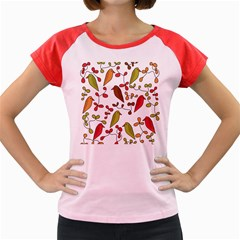 Birds and flowers 3 Women s Cap Sleeve T-Shirt