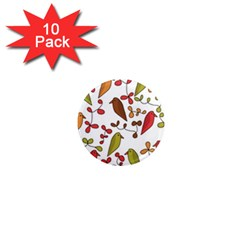 Birds and flowers 3 1  Mini Magnet (10 pack)