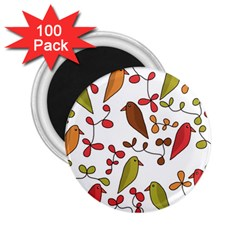 Birds and flowers 3 2.25  Magnets (100 pack)