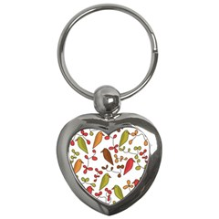 Birds and flowers 3 Key Chains (Heart)