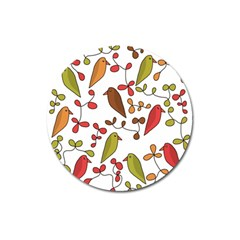 Birds and flowers 3 Magnet 3  (Round)