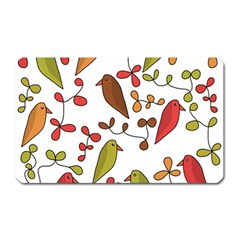 Birds and flowers 3 Magnet (Rectangular)