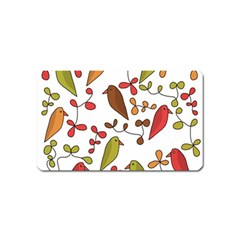 Birds and flowers 3 Magnet (Name Card)