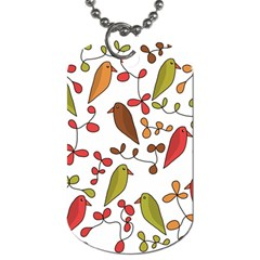 Birds and flowers 3 Dog Tag (One Side)