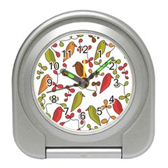 Birds and flowers 3 Travel Alarm Clocks