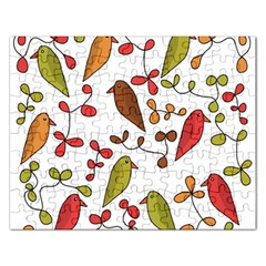 Birds and flowers 3 Rectangular Jigsaw Puzzl