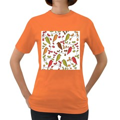 Birds and flowers 3 Women s Dark T-Shirt