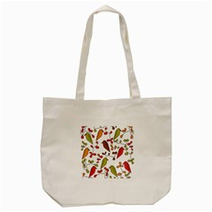 Birds and flowers 3 Tote Bag (Cream)