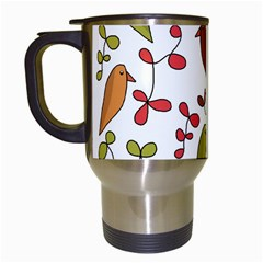 Birds and flowers 3 Travel Mugs (White)