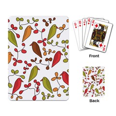 Birds and flowers 3 Playing Card